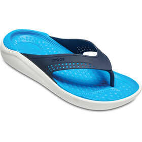 Crocs LiteRide Flip Sandals navy/white